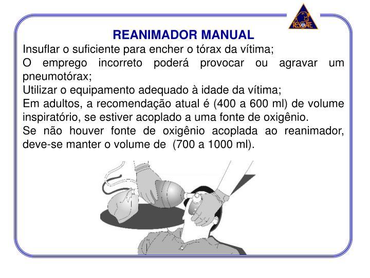 REANIMADOR MANUAL