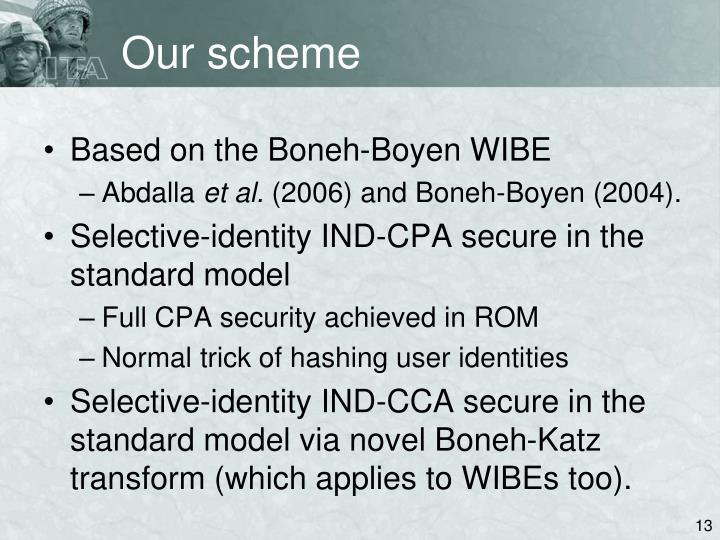 Our scheme