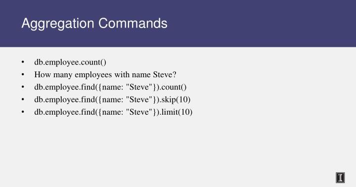 Aggregation Commands