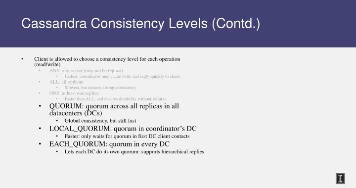 Cassandra Consistency