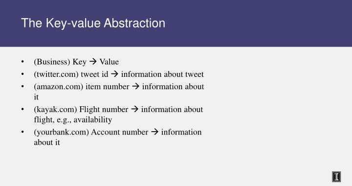 The key value abstraction