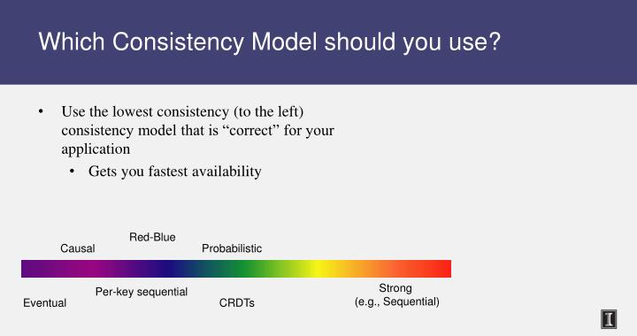 Which Consistency Model should you use?