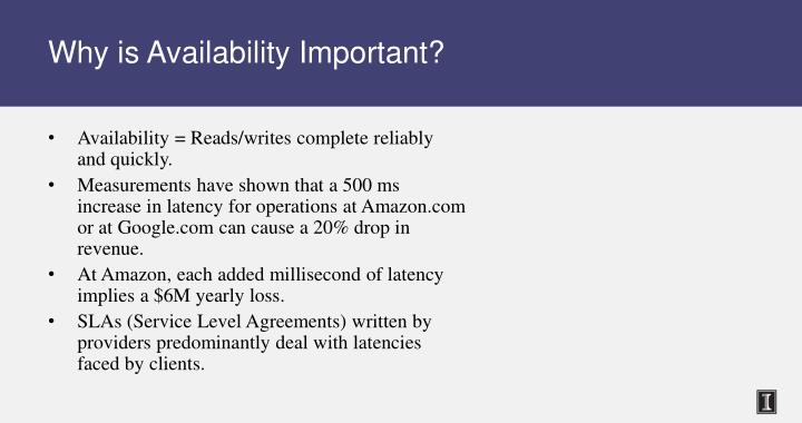 Why is Availability Important?