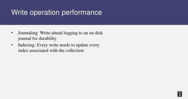 Write operation performance