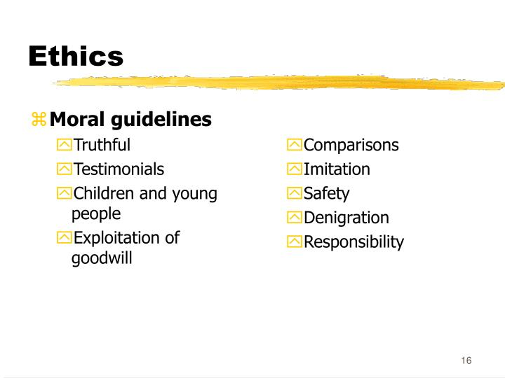 Moral guidelines