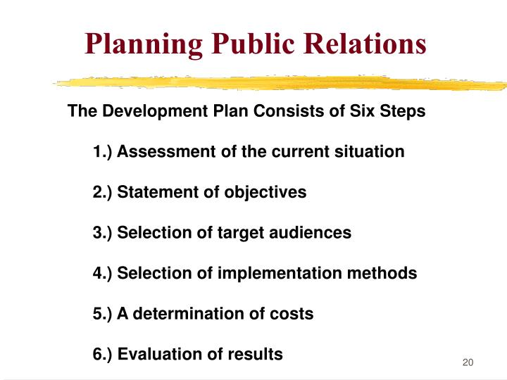 Planning Public Relations