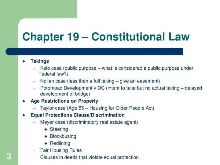 Chapter 19 constitutional law