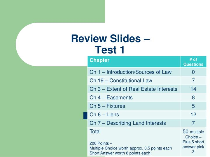 Review slides test 1
