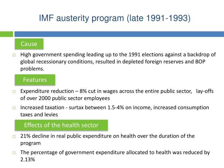 IMF austerity program (late 1991-1993)