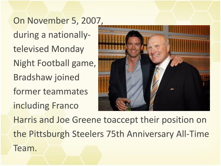 On November 5, 2007,