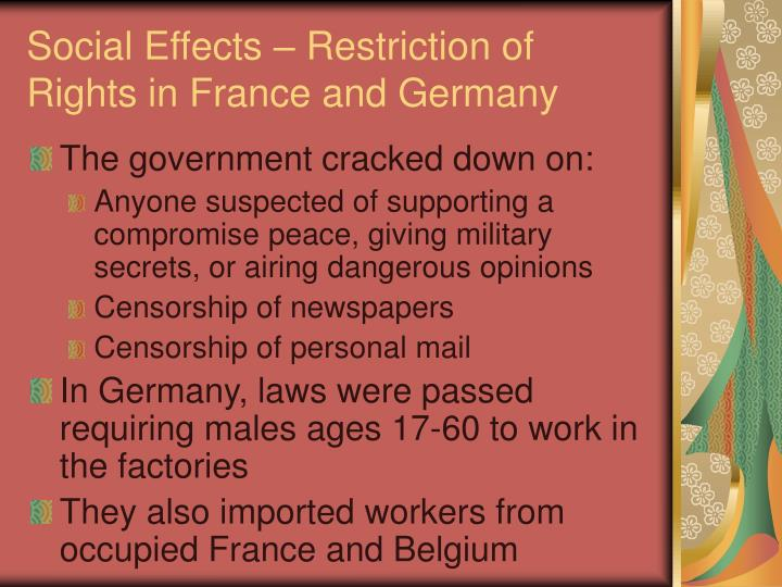 effects of rights in france What the nazis driving people from homes taught philosopher hannah arendt about the rights of  would have far-reaching effects,  the conversation relies.