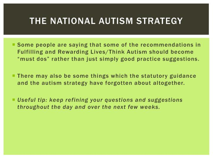 The national autism strategy