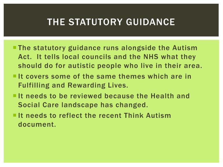 The statutory guidance