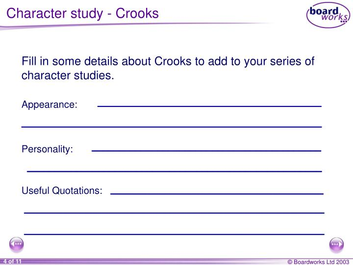 Character study - Crooks