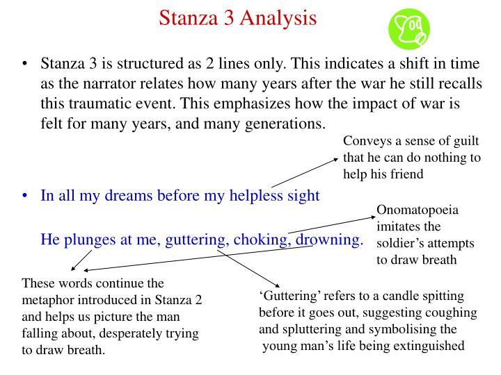 Stanza 3 Analysis