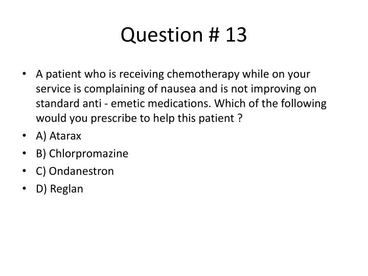 Question # 13