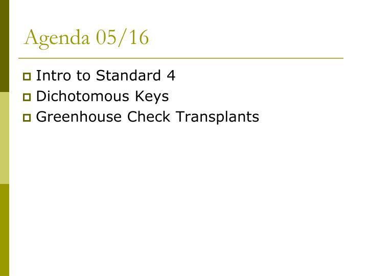 Agenda 05/16