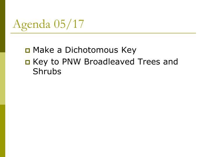 Agenda 05/17