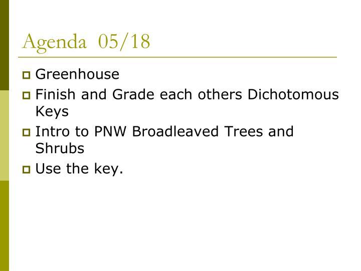 Agenda  05/18