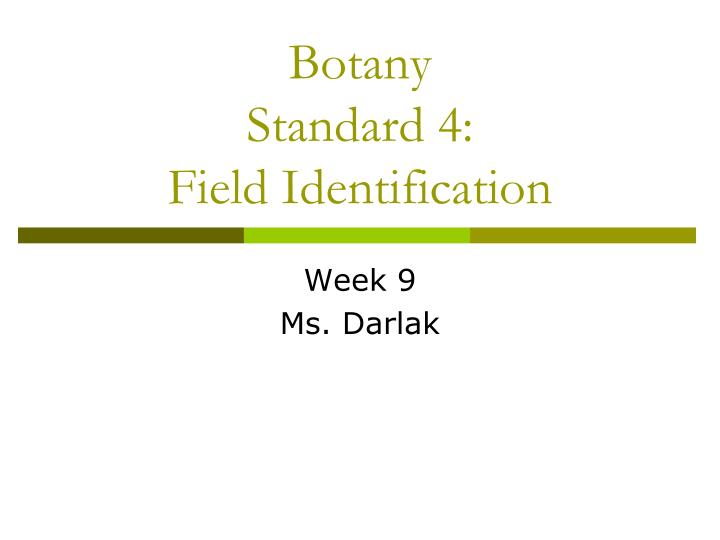 Botany standard 4 field identification