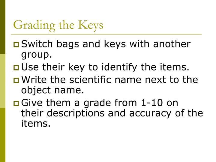 Grading the Keys