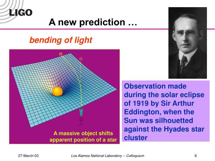 A new prediction …