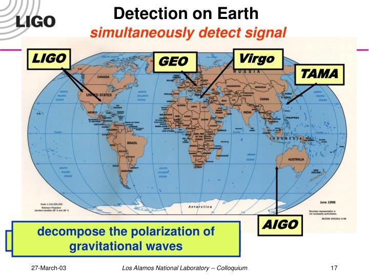 Detection on Earth