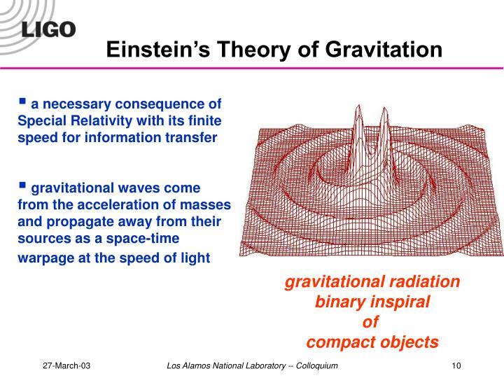 Einstein's Theory of Gravitation