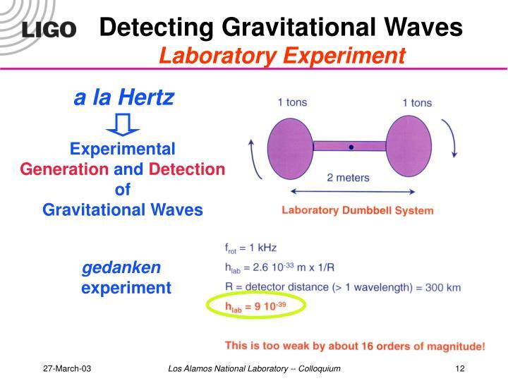 Detecting Gravitational Waves