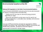 environmental taxation at the eu