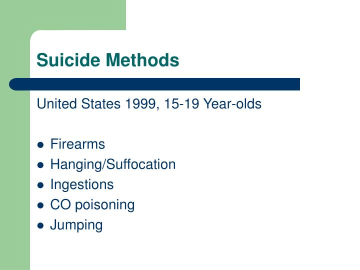 Suicide Methods