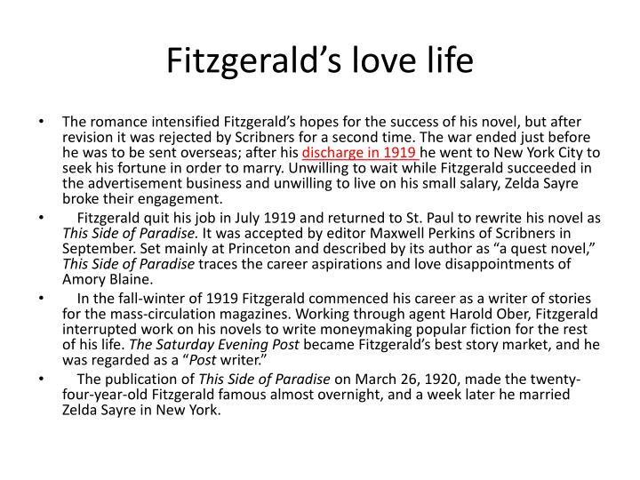 Fitzgerald's love life