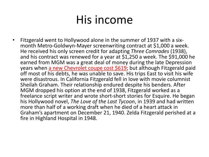 His income