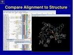 compare alignment to structure