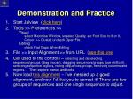 demonstration and practice