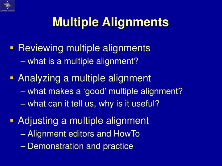Multiple alignments