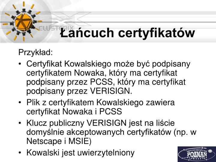 Łańcuch certyfikatów