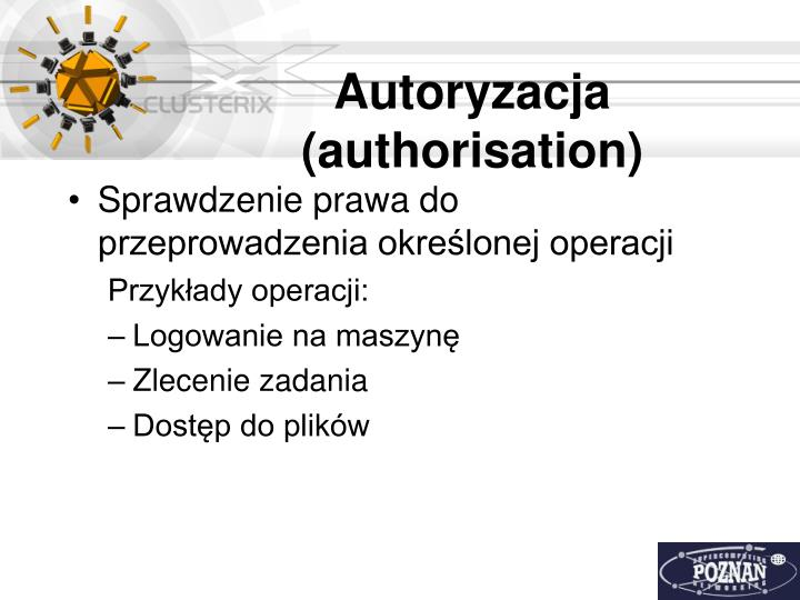 Autoryzacja (authorisation)