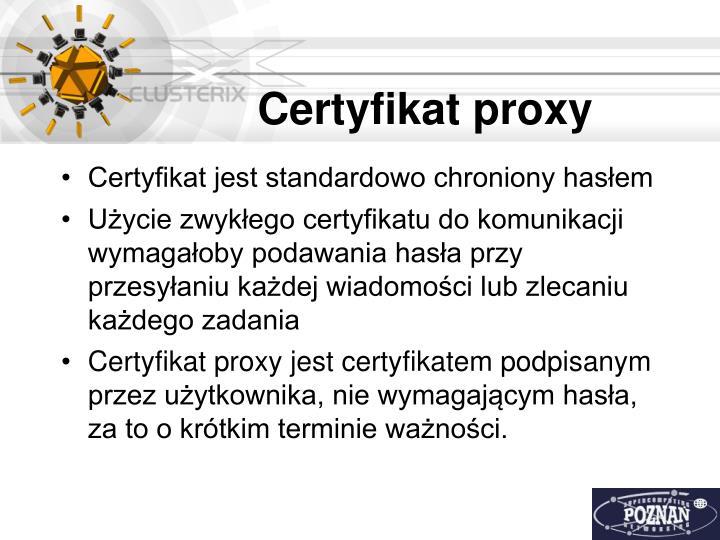Certyfikat proxy