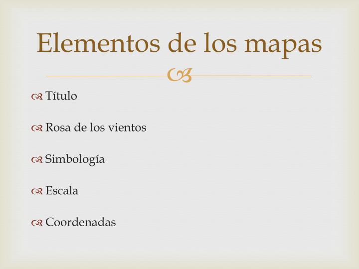 Elementos de los mapas