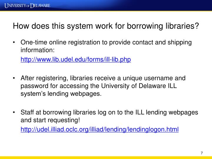 How does this system work for borrowing libraries?