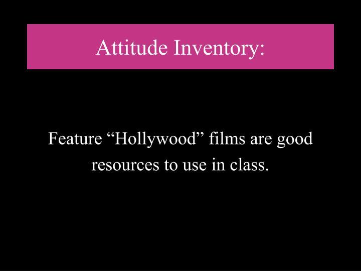 Attitude Inventory: