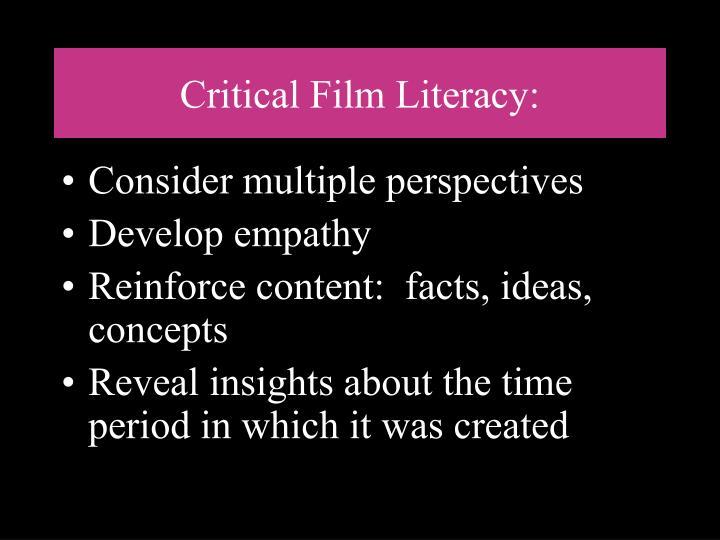 Critical Film Literacy: