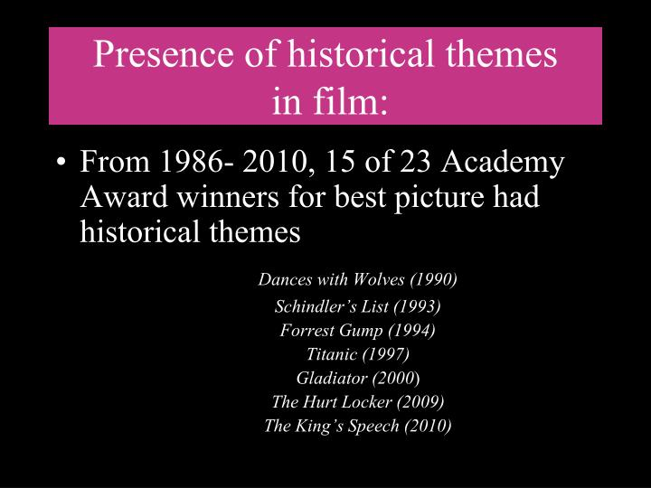 Presence of historical themes