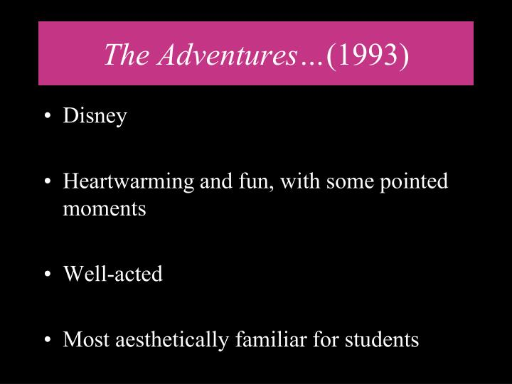 The Adventures…