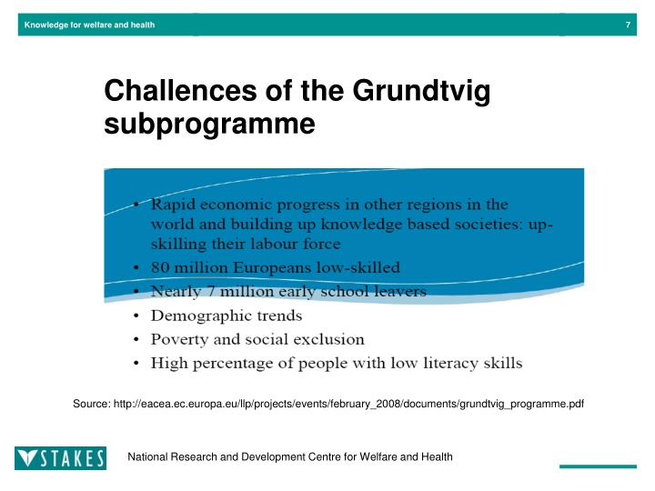 Challences of the Grundtvig subprogramme