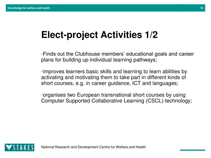 Elect-project Activities 1/2