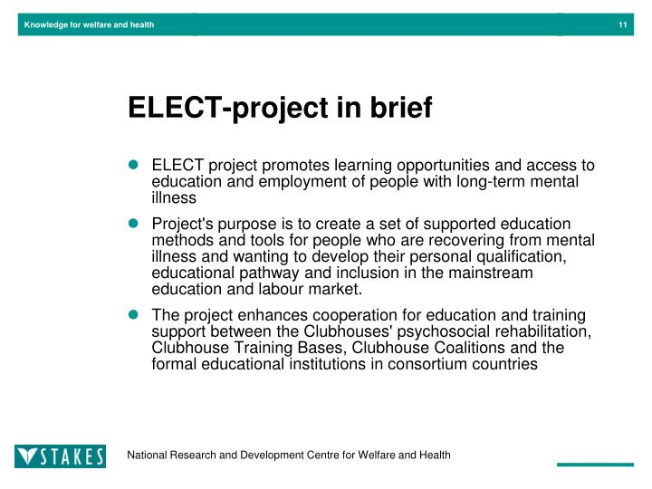 ELECT-project in brief