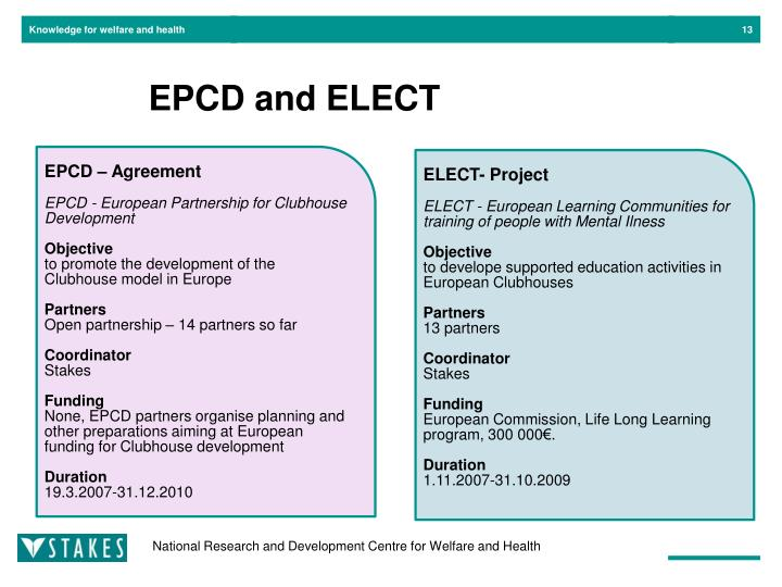 EPCD and ELECT