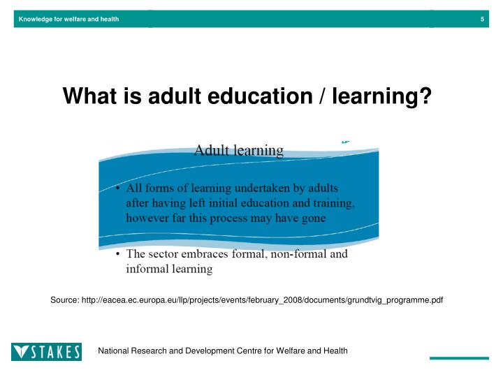 What is adult education / learning?